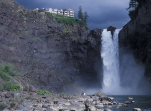 USA Washington State, Snoqualmie Falls, attraction east of Seattle