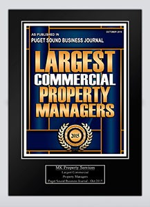 Largest Commercial Property Managers 2015 Plaque